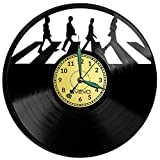 Liverpool Rock Band Reloj de pared de vinilo retro reloj grande reloj estilo habitación decoración hogar gran regalo para amigo hombre vinilo Record Kovides vinilo