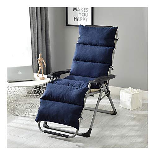 Chaise Lounge, cuscino per sedia a dondolo in vimini, spesso scamosciato, cuscino per sedia a dondolo per interni ed esterni, tappetino Tatami rimovibile e lavabile 175x50cm Marina Militare