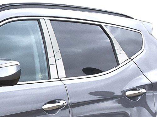 Price comparison product image QAA fits 2013-2018 Hyundai Santa Fe 6 Piece Stainless Pillar Post Trim PP13336