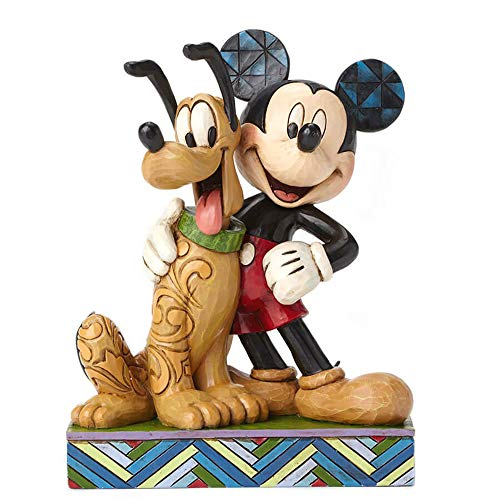 Disney Traditions by Jim Shore Mickey Mouse und Pluto Figur aus Kunstharz, 15,2 cm