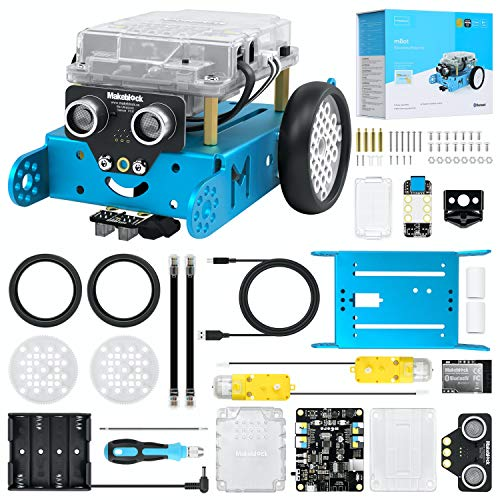 Makeblock mBot Coding Robot Kit, Robot Toys for Kids, DIY Metal Robotics Kit with Arduino & Scratch Coding, Electronics Coding, Building STEM Toys, Educational Gifts for Boys and Girls Ages 8+