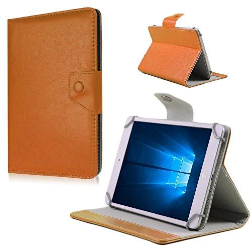 Nauci Tablet Tasche Hülle Odys Rapid 7 Plus Case Universal Cover Schutzhülle Bag, Farben:Braun