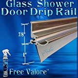 36' Brush Nickel Framed Glass Shower Door Drip Rail Kit- Comes Pre-taped and with the seal already installed. Metal replacement piece on the bottom of a framed shower door. FREE 4oz Valore!!!