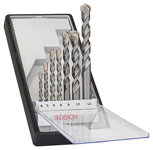 Bosch Professional 2607010545 Rundschaftbohrer 7 tlg. Silver Percussion Bohrer Set