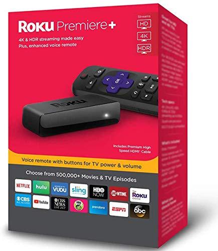Roku Premiere+ 4K HDR Streaming Player (Renewed)