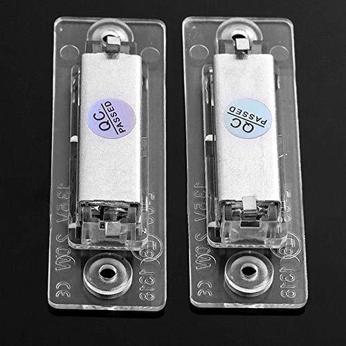 Jiayuane Lampe de Plaque d'immatriculation, 2pcs LED de Plaque d'immatriculation de Voiture 18 Lampes d'éclairage de Plaque d'immatriculation arrière pour Le Golf 2005-2009 Passat Cimousint 2001-2005