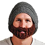 Beardo Original Detachable Beard Hat, Gray Brown