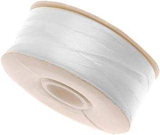 64-Yard NYMO Nylon Beading Thread Size D for Delica Beads, White