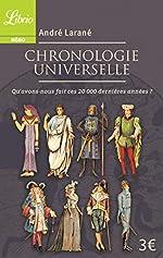 Chronologie universelle - Qu'avons-nous fait ces 20 000 dernières années ? d'André Larané