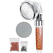 Handbrause, Duschkopf Filtration Duschkopf mit 3 Strahlarten und 3 Austauschbar Duschkopf Kalk Filter, Wassersparend Druckerhöhend Duschkopf für Sprühung Massage und MischungHandbrausen