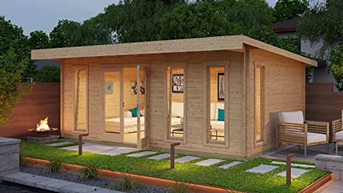 Salone Negozio Online Caseta Barbados 6 de madera nórdica 5