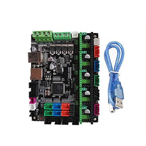 3D Printer mainboard Compatible Marlin/Smoothie Firmware Support Uart/SPI Mode 32-Bit ARM Cortex-M3 Open Source 3D Printer Mainboard Better Heat Dissipation ( Color : Green , Size : One size )
