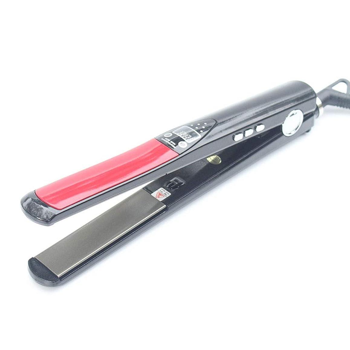 手荷物無限幸福高温デジタルストレートヘアアイロンセラミックイオンスプリントは髪を傷つけない、ストレートヘアカーリングデュアルユースストレートプレート
