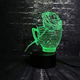 Rose flower Coffe Cup Shop Christmas Night Light 3D LED...