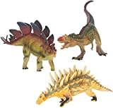 Class Collections Stegosaurus and Kentrosaurus T-Rex Dinosaur Figure Children s 8 inch 3 Piece Playset