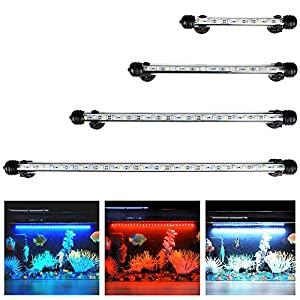 LED Aquarium Light, Submersible Multi-Color Waterproof Fish Tank Light Underwater Crystal Glass Lights Suitable for Saltwater and Freshwater-11 inch(28 cm)