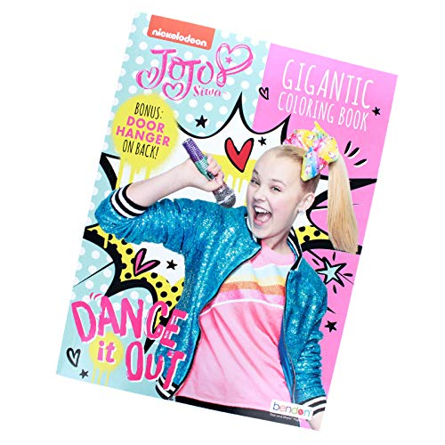 Activity Books JoJo Siwa Gigantic 192 Page Coloring Book with Door Hanger on Back