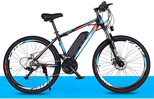Fangfang Bicicletas Eléctricas, Montaña de Bicicleta eléctrica de 26 Pulgadas con extraíble 36V 8Ah de Iones de Litio Tres Modos de Trabajo Capacidad de Carga 200 Kg,Bicicleta (Color : Black Blue)