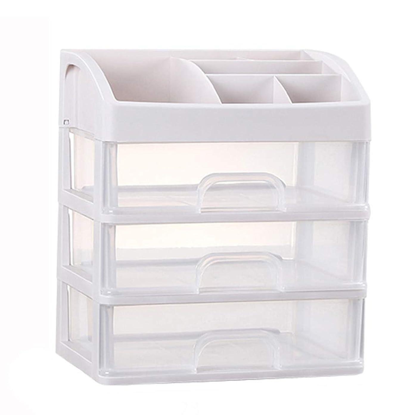 配列規模同化KKY-ENTER プラスチックシンプル化粧品収納ボックス透明引き出しタイプ口紅ジュエリースキンケア製品収納ディスプレイボックス (Size : 23.3*17*26.8cm)