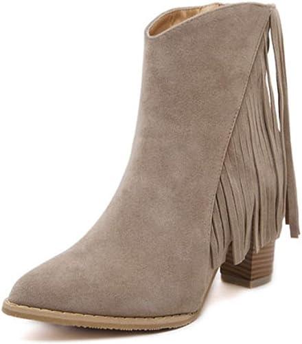 Mme Spring bottes a épais avec des chaussures à talons hauts bottes Martin , khaki , US6   EU36   UK4   CN36