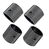 Pack of 4pcs Dome Knob Volume Tone Control Knobs for Electric Guitar Bass Screw Type (Black)