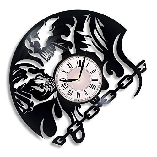 Ghost Rider Vinyl Record Wall Clock, Ghost Rider Film, Ghost Rider Movie, Ghost Rider Artwork, Ghost Rider Gift, Ghost Rider Clock, Wall Decor, Marvel Comics