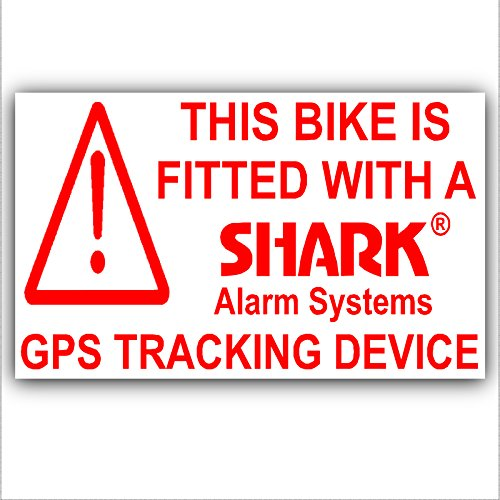 Platinum Place 5 x Fiets Beveiliging Stickers-GPS Tracker-Tracking DeviceWarning-Mountain, Racing, Fietsen, Fietsen, Motorfiets, Motorfiets, Motorfiets, BMX-Shark alarmsystemen