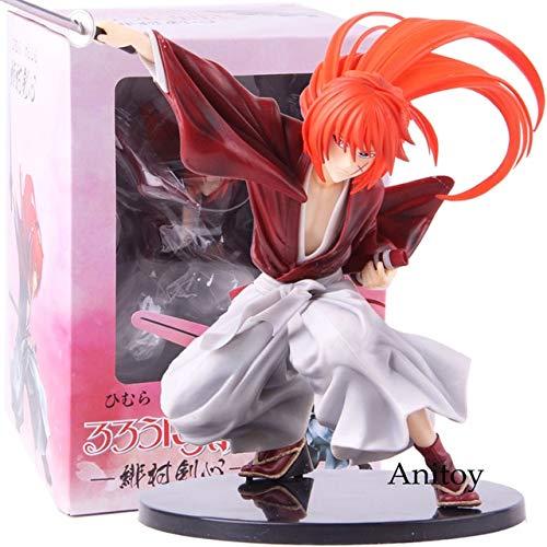 Yvonnezhang Amine Figur Schwertkämpfer Himura Kenshin Collection PVC Action Figure Modell Spielzeug, mit Kleinkasten