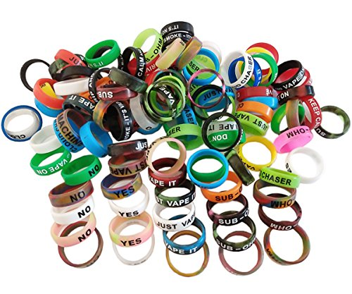 Vape Rings 30 pack Antiskid Silicone Bands for RDA, RTA, Tanks, and Mods