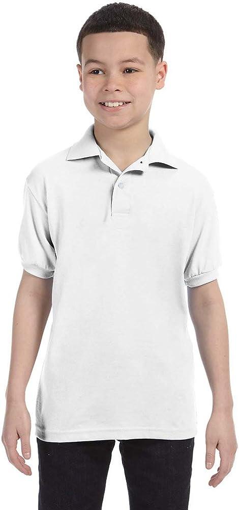 Hanes Youth 5.2 oz. 50/50 ComfortBlend EcoSmart Jersey Knit Polo