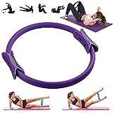 VANUODA Aro Pilates, Anillo de Pilates, Yoga Ring Magic Circle - Fitness Exercise - Training Ringe Workout Círculo Mágico de Ejercicio para Quemar Grasa, Accesorios Pilates Mujer (Púrpura)