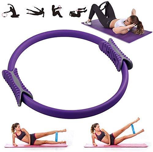 VANUODA Pilates Ring, Yoga Circle, Beintrainer Beinpresse oberschenkeltrainer, Grip Beckenboden, Bauchfett Verbrennen Schnell, Fitness Geräte für Zuhause (Violett)