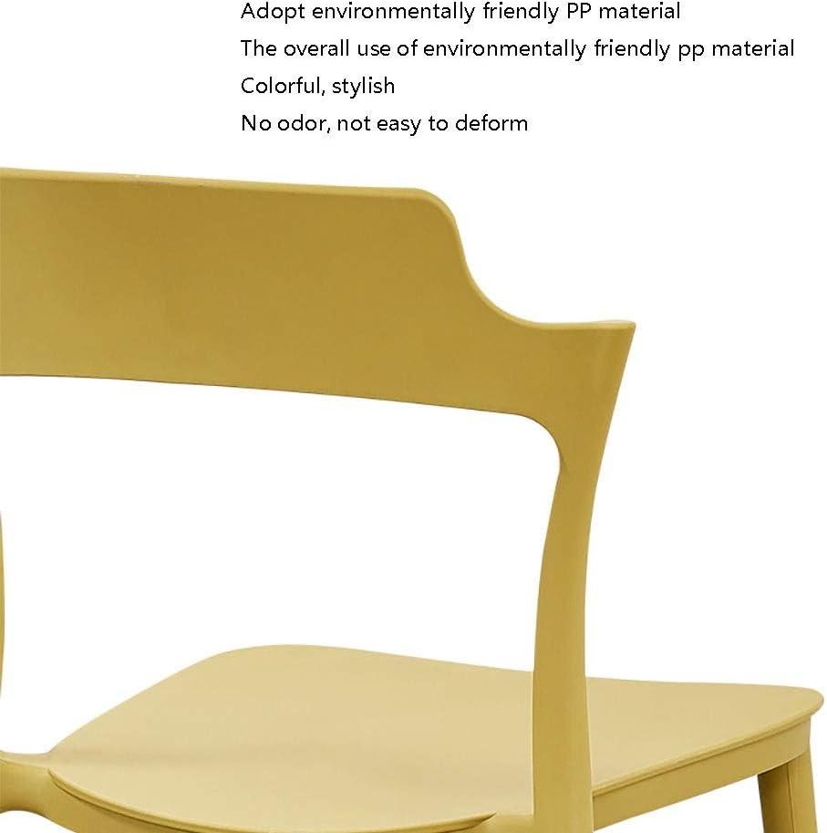 Chaise Dossier Restaurant Moderne en Plastique Minimaliste Adulte Dossier Tabouret Créative Loisirs Maison (Couleur : Blanc) Noir