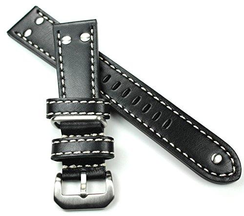 Cinturino in pelle per orologio militare della Nato, da 22 mm, in stile da...