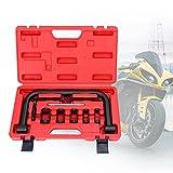 BMOT Válvula de Compresor de Muelle Herramienta de Montaje del Tensor de válvula Juego de Prensa de Resorte de 10 Piezas con Estuche, para Motocicletas