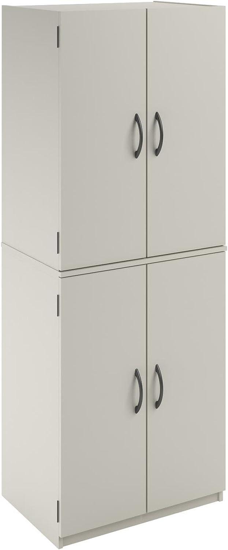 Altra Furniture 4 Door Storage Cabinet, White