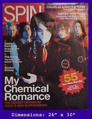 My Chemical Romance Spin Magazine Cover poster. The poster is not sold by My Chemical Romance