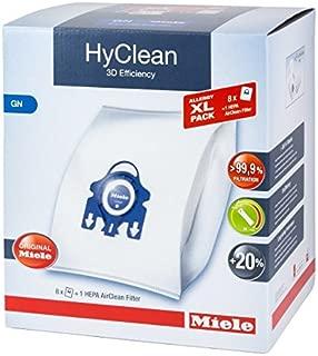 Miele XL Pack - 8x Miele Hyclean 3D GN Vacuum Bags +1 Miele Hepa Filter SF-HA 50