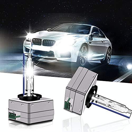 2Pcs D1S/D1C/D1R 35W HID Xenon HID Bulbs Headlight Bulbs Replacement for Head light Bulbs (6000K)