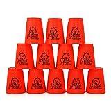 2 x HC-Handel 916247 12er Set Stapelbecher Stapel Becher Schnellstapeln sortiert