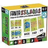 HERACLIO FOURNIER-HEADU FANTASILABAS. Juego Infantil Educativo Método Montessori para Aprender a Leer y Escribir para niño y niñas de 4 a 7 años, Multicolor ES24636
