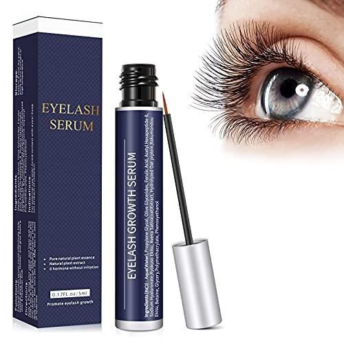 Wimpernserum Augenbrauenserum mit Natürlichen Zutaten Eyelash Growth Serum für Stärkeres und Schnelles Wimpernwachstum Wimpern Booster für Mehr Länge Dichte Eyelash in 4-6 Wochen,5 ml