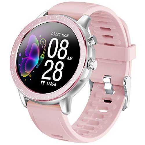 PHIPUDS Smartwatch Fitness Armbanduhr Fitness Tracker für Damen Herren, Sportuhr mit Schrittzähler Pulsmesser Wasserdicht IP68 zum Schwimmen, Fitness Uhr Smart Watch für iOS Android Handy
