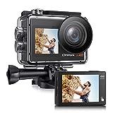 [2021 NEUESTE] Campark X40 Dual Bildschirm 4K 20MP WiFi Action Cam 40M Wasserdicht Unterwasserkamera...