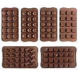 JPSOR 6 Stück Silikon Pralinenformen, Schokoladeformen, Silikonformen, Eis Formen, Seifenformen,...