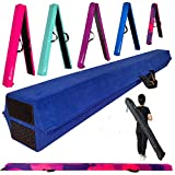 MARFULA 6 FT / 8 FT / 9 FT Gymnastics Balance Beam Floor Beam - Extra Firm - Suede Cover - Anti Slip Bottom with Carry Bag for Kids/Adults Home Use (Blue, 6 FT)