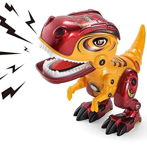 AOFUN Juguetes de Dinosaurios para niños, Aleación de Metal Dinosaurio de Juguete con Sonido rugiente para niños y niñas de 3 años o más