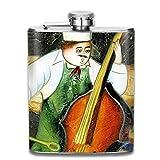 ブルームン 酒器 酒瓶 お酒 フラスコ コック 音楽 バイオリン ボトル 携帯用 フラゴン ワインポット 7oz 200ml ステンレス製 メンズ U型