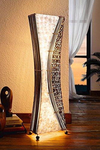 Dekoleidenschaft Design Stehleuchte Bali, Balinesische Handwerkskunst, Handarbeit, Stehlampe