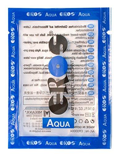 Eros Sachets - Lubricante (base de agua o silicona, fabricado en Alemania)